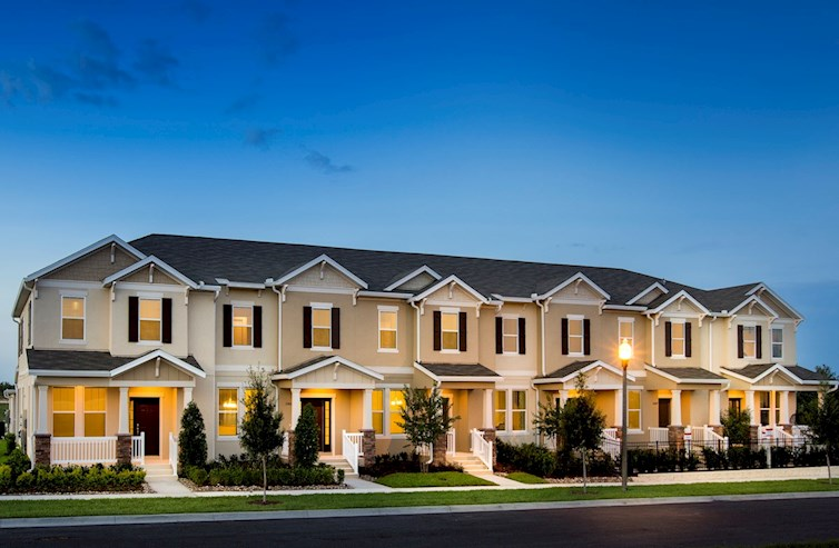 twilight townhome exterior