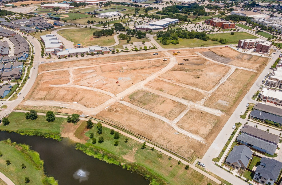 aerial view of future townhouse homesites