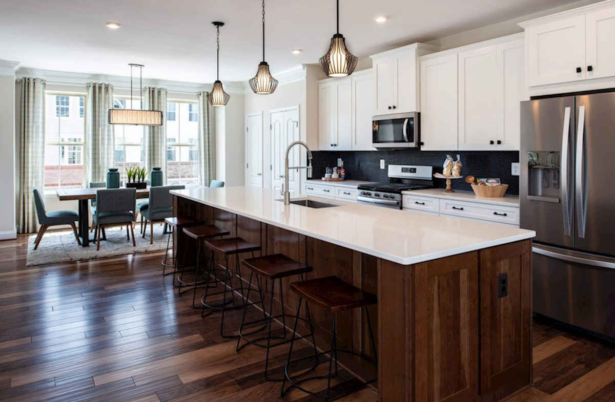 Riverwalk at Crofton Townhomes Annapolis Annapolis kitchen featuring stainless steel appliances