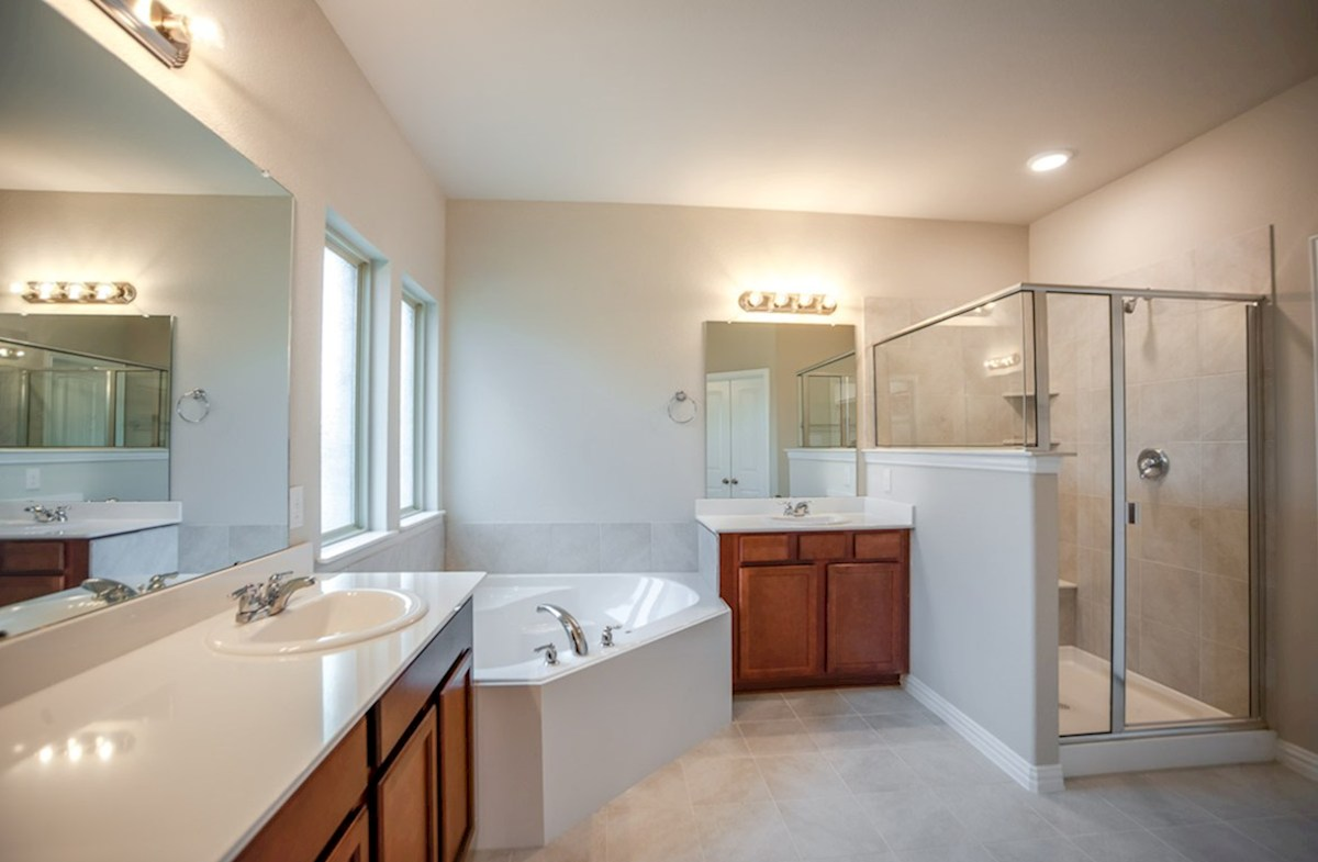 Madison quick move-in master bath with soaking tub and walk-in shower