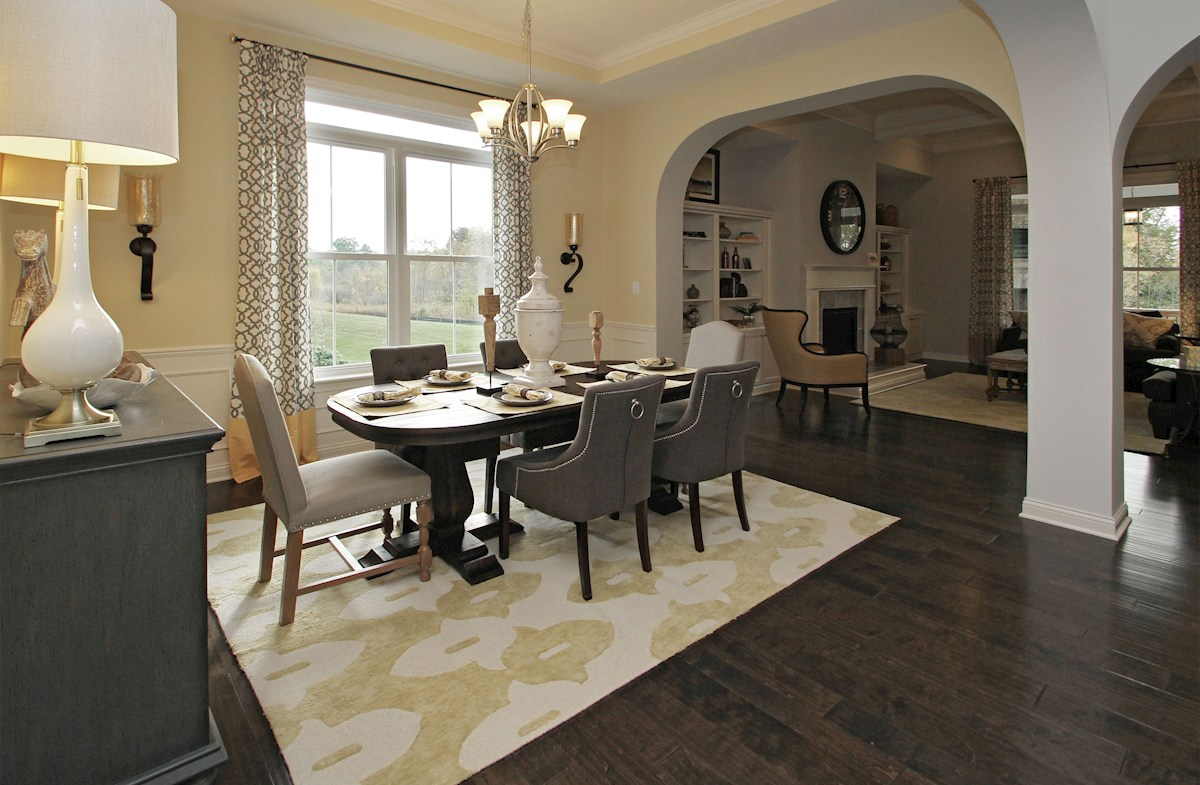 Hampshire Meridian Collection Capitol formal dining room with hardwood floors