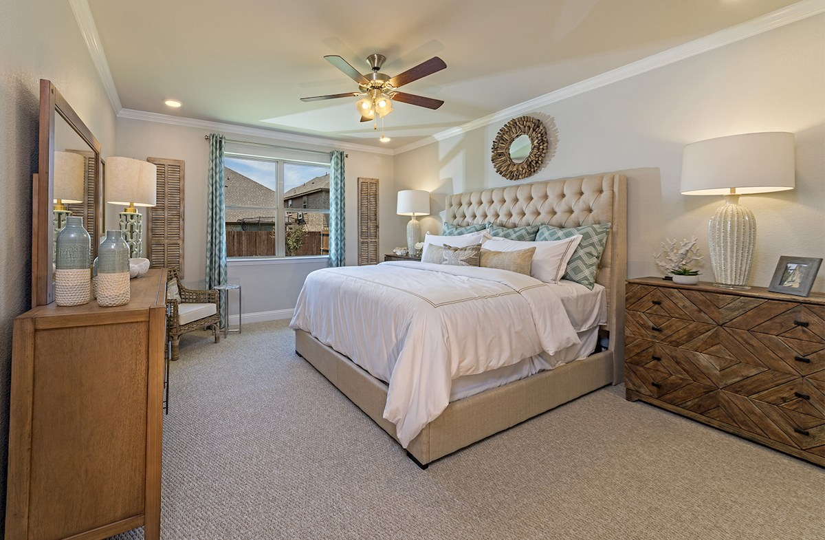 Avalon master bedroom with natural light