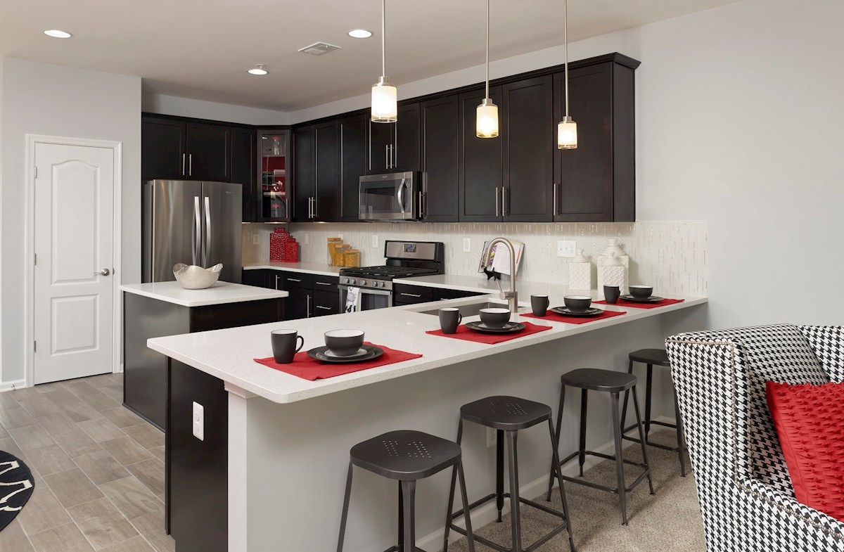 The Preserve at Windlass Run Townhomes  Oakland II  granite kitchen countertops