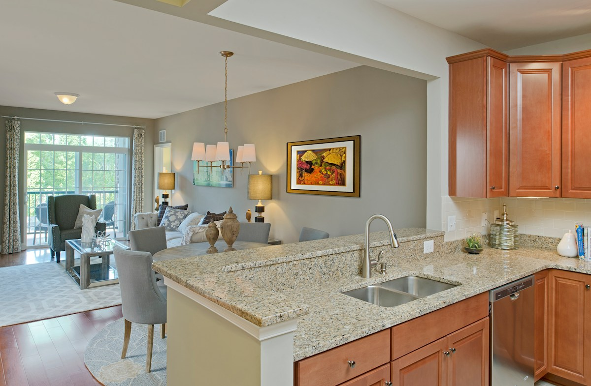 Gatherings® at Quarry Place Bradford spacious open kitchen