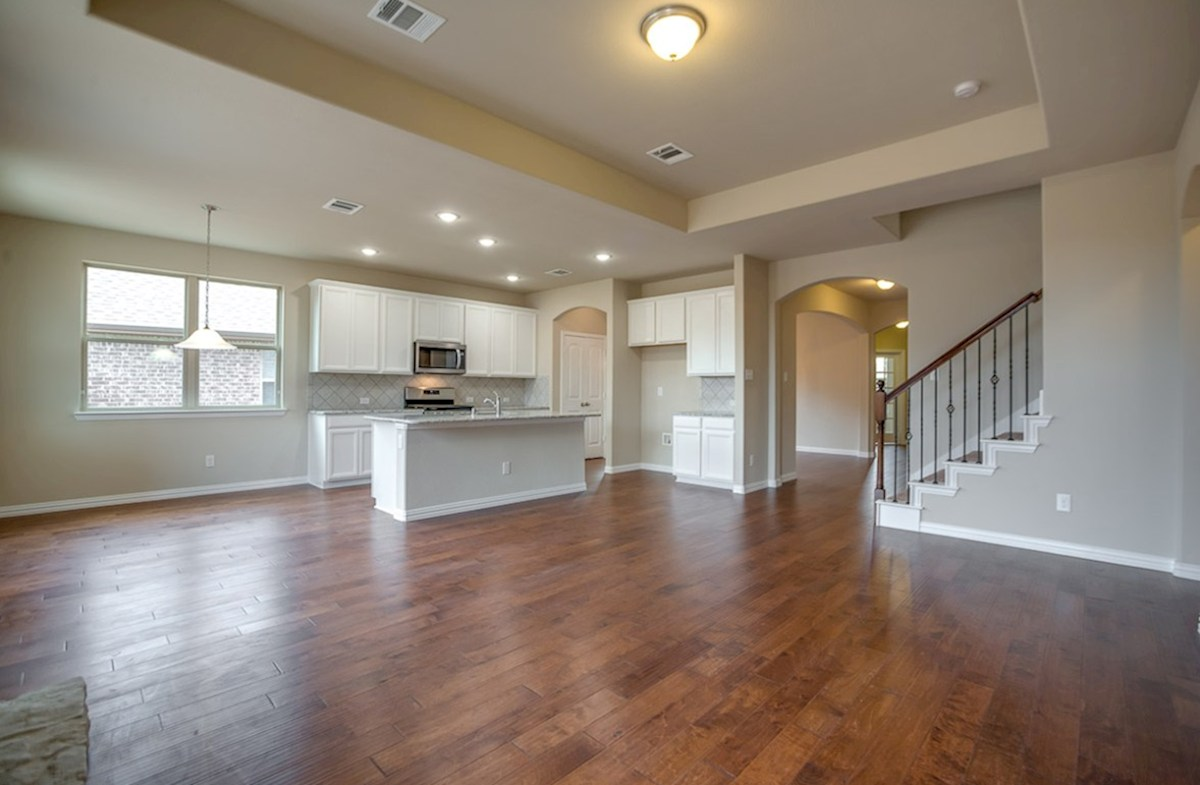 Avalon quick move-in wood flooring in living areas
