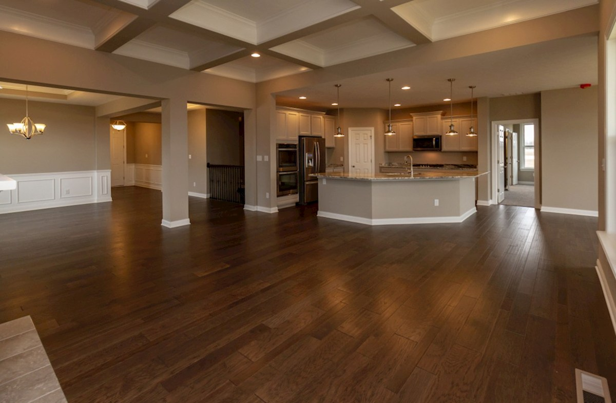 Capitol quick move-in open great room with hardwood floors