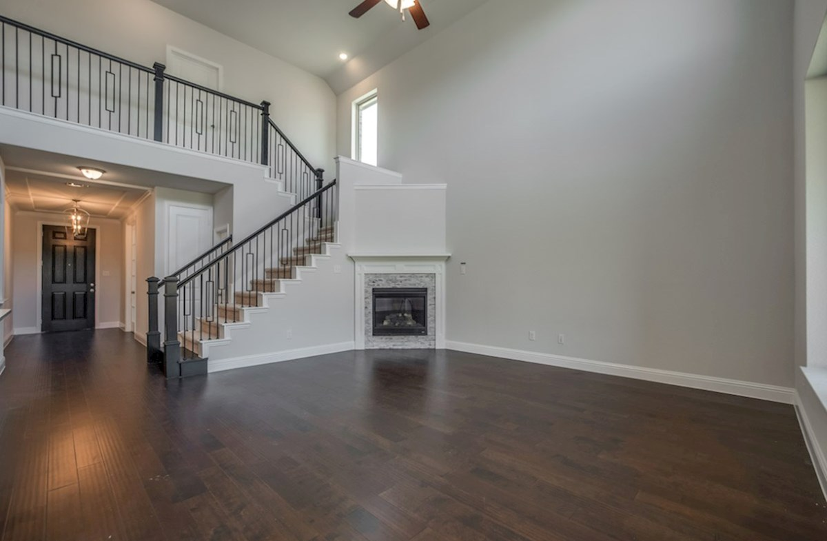 Brookhaven quick move-in Brookhaven great room with fireplace