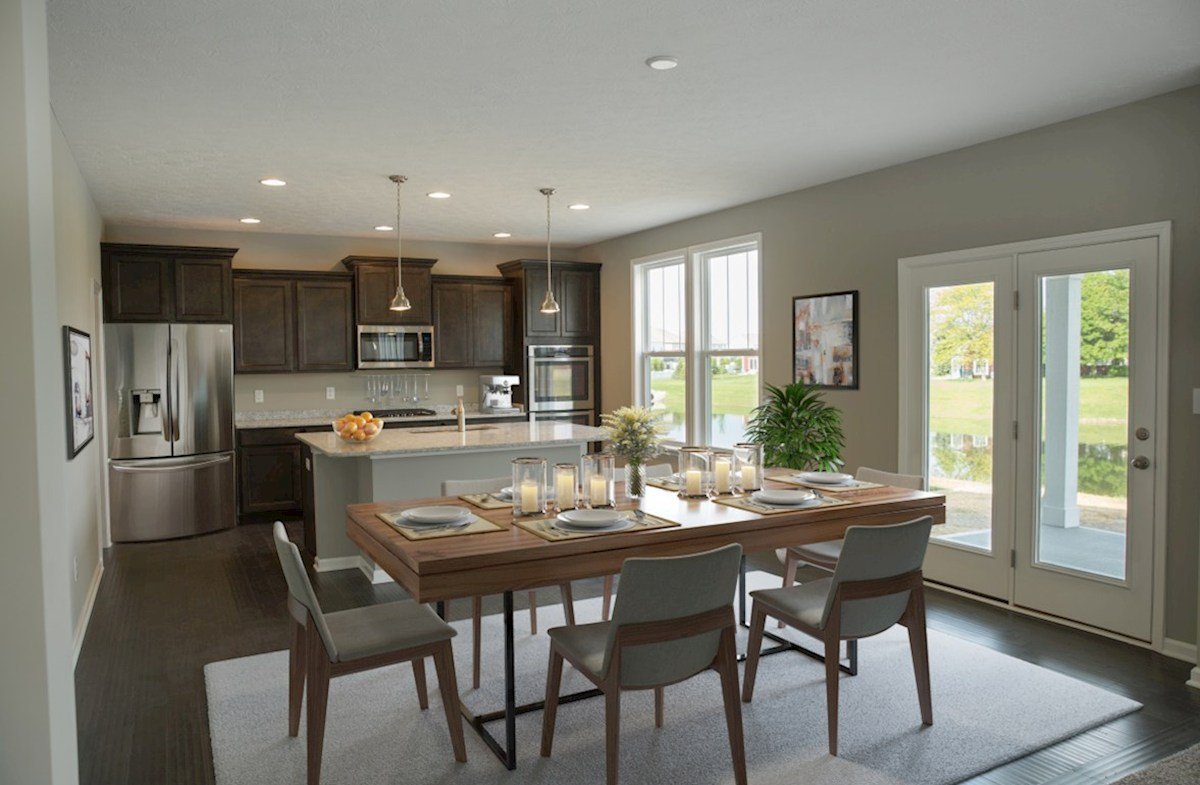 Heritage at Vermillion Porter Open concept kitchen for entertaining