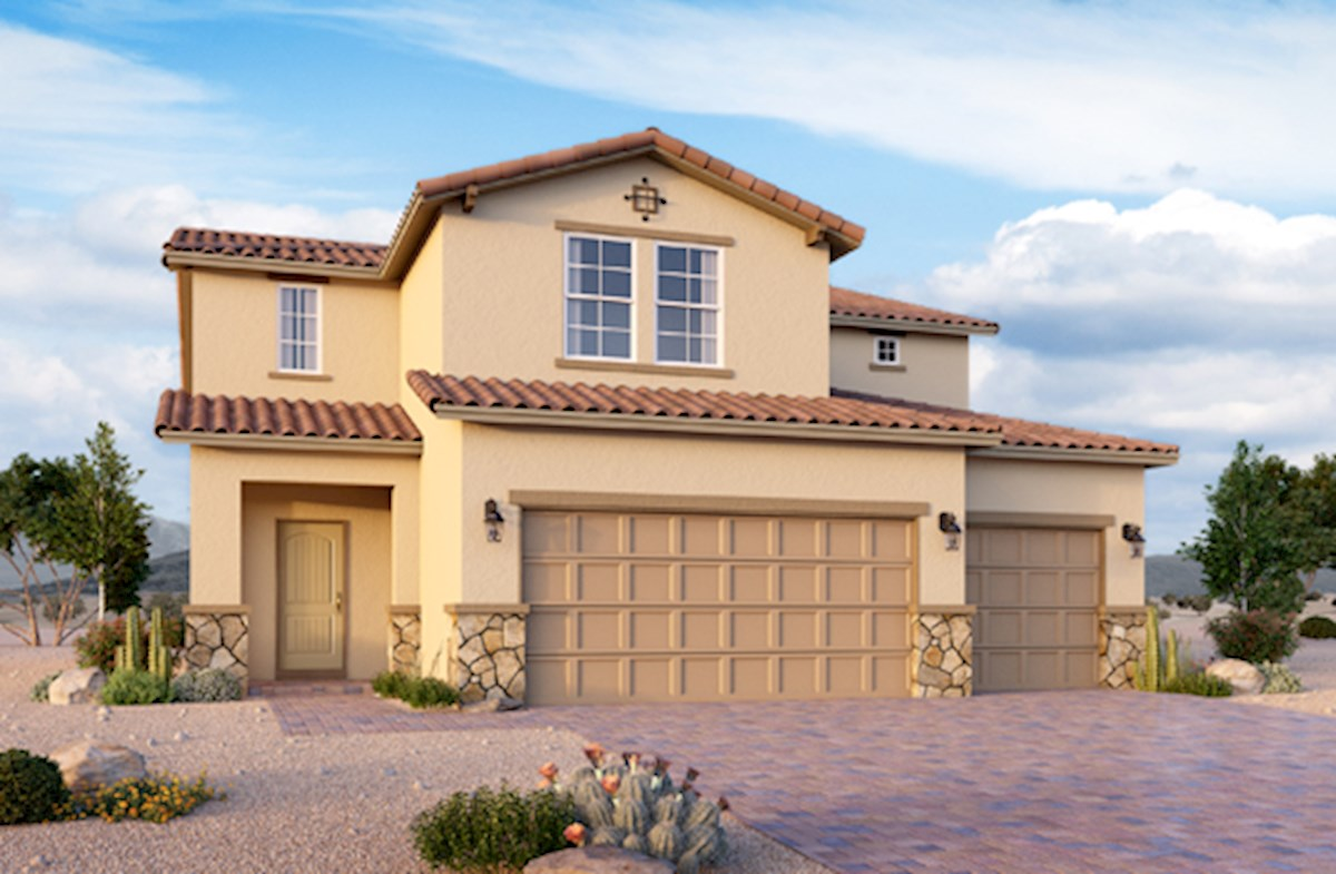 Tuscan exterior on Sienna plan