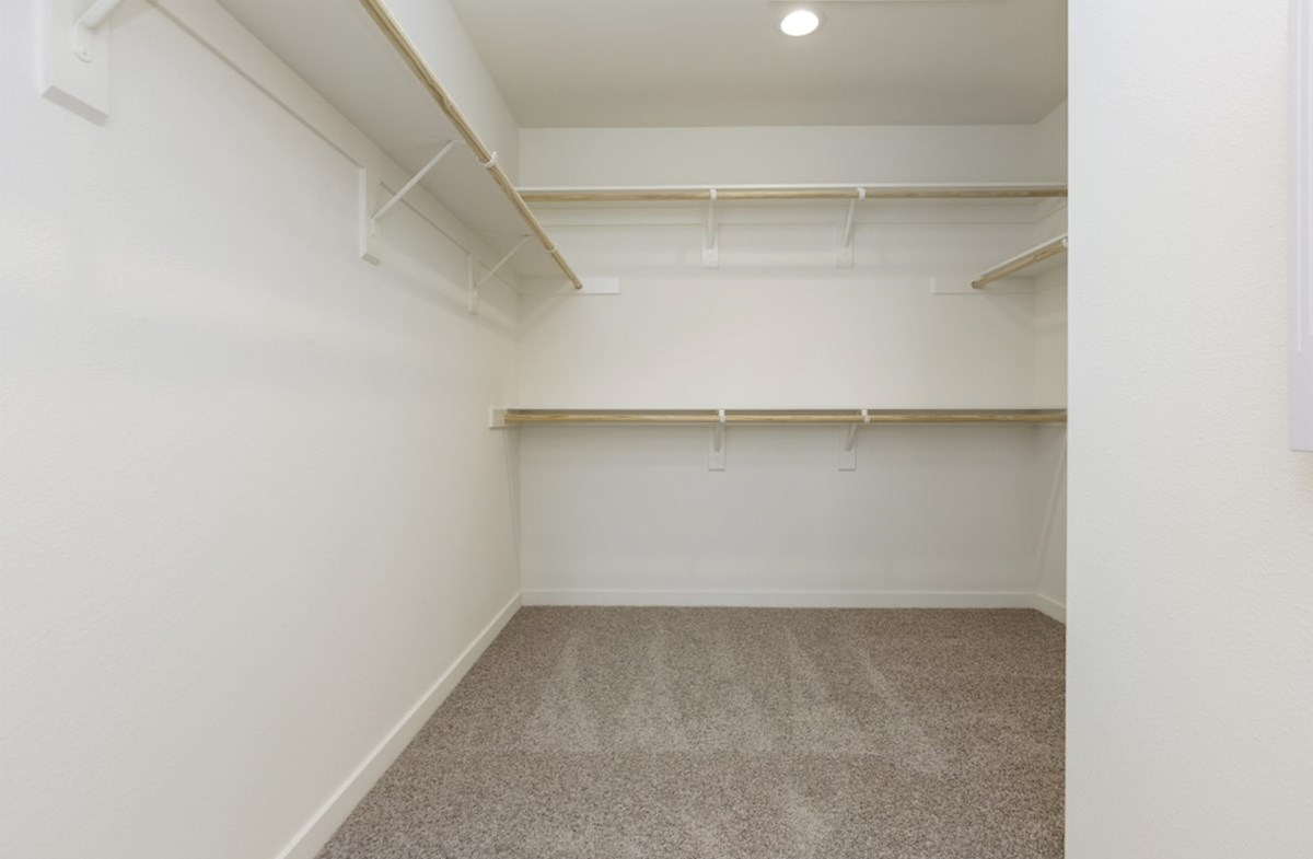 Paxton quick move-in Spacious walk-in closet located conveniently off the master bedroom