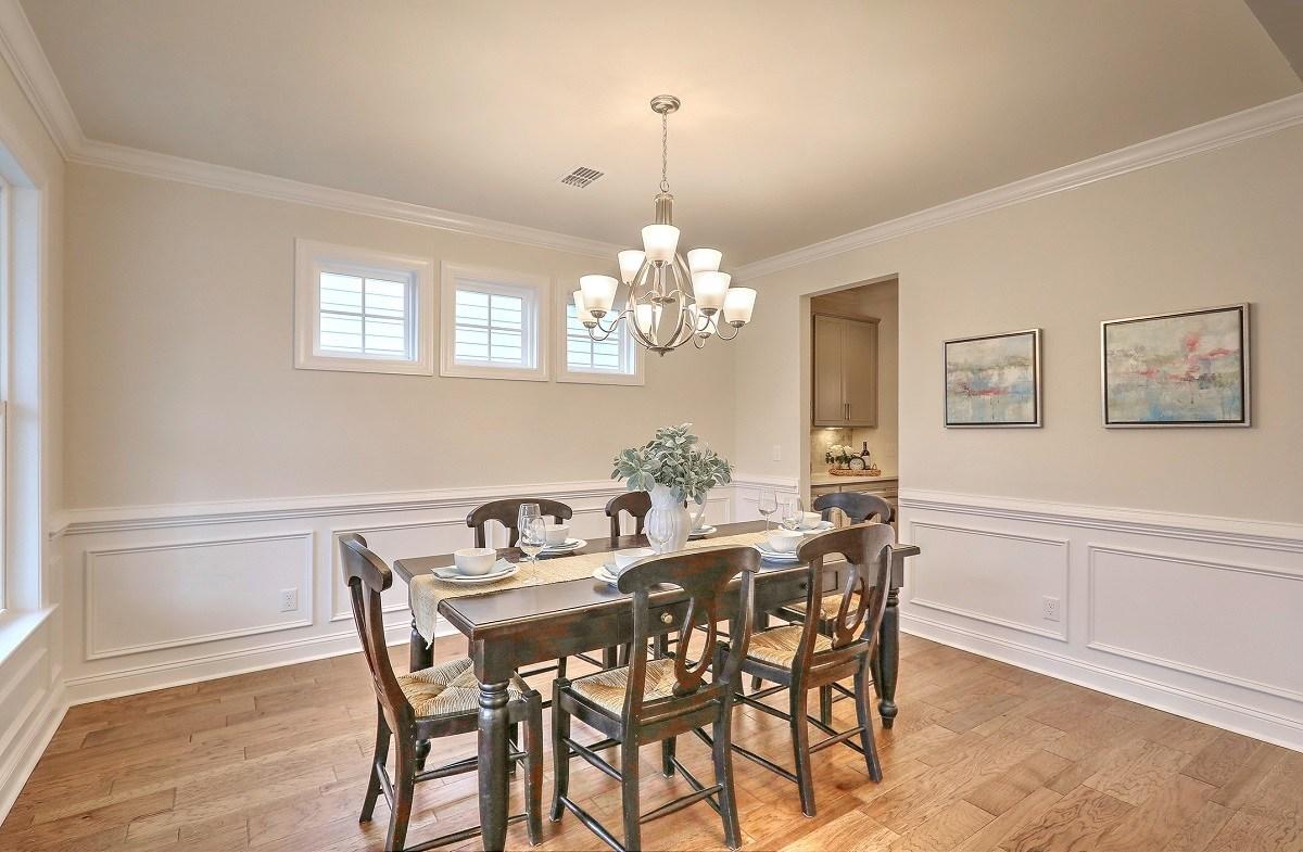 Bentley Park White Oak  formal dining room