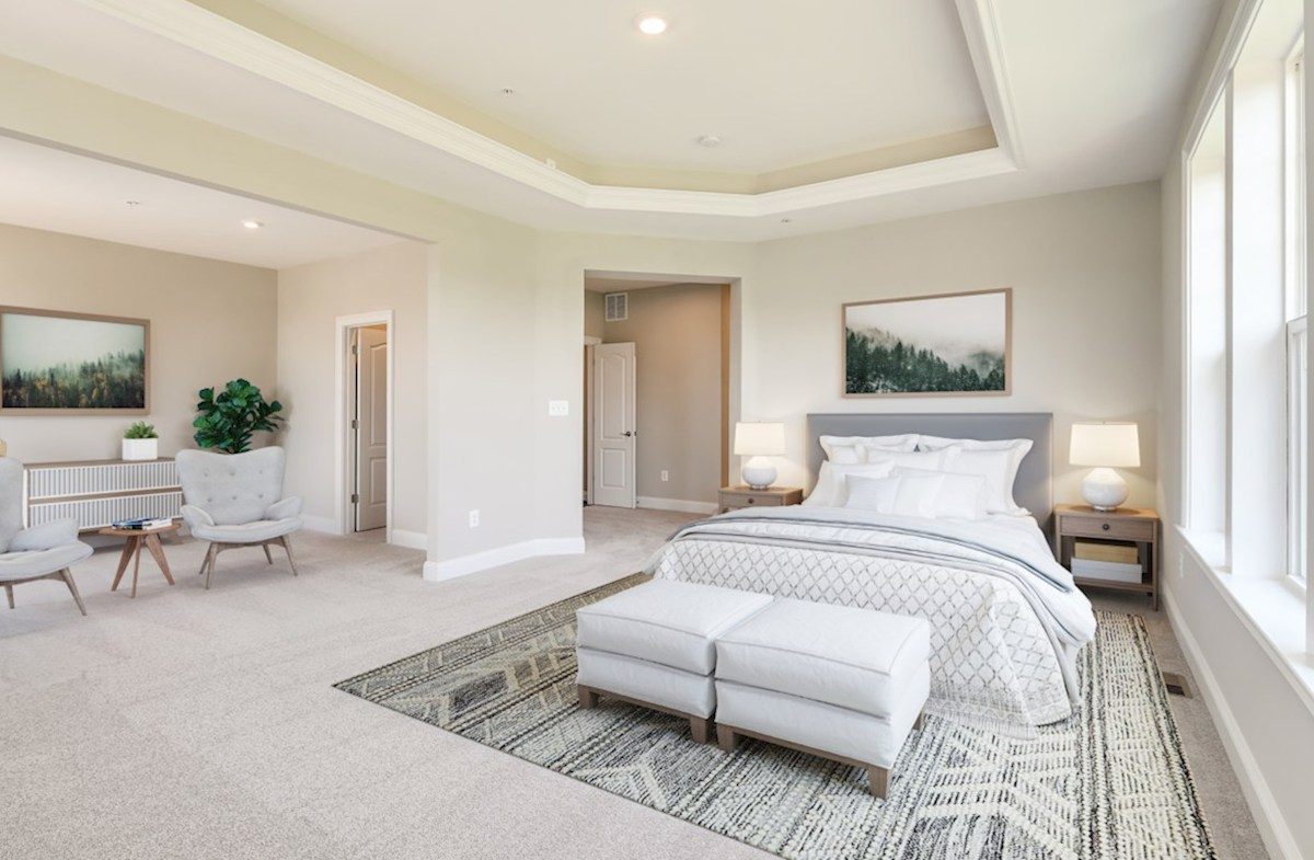 Enclave at River Hill Augusta Augusta master suite featuring a box ceiling