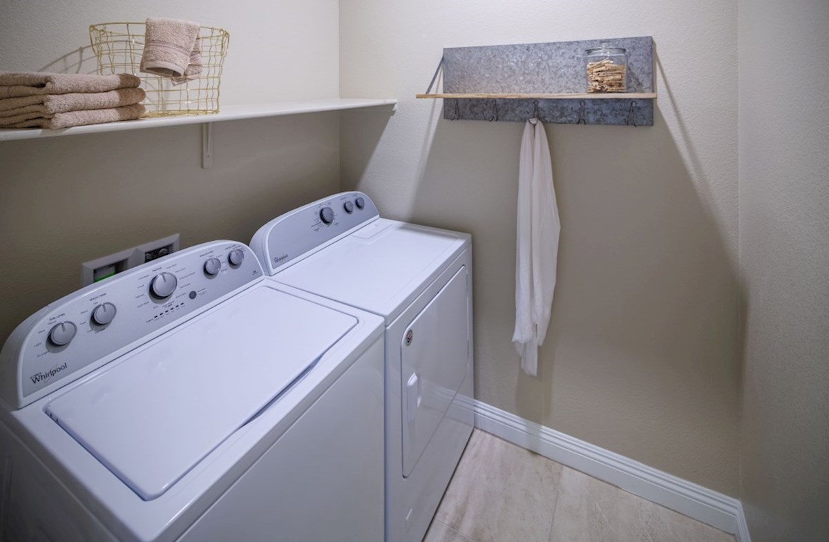 Dorrell Estates Summit The spacious Summit laundry room