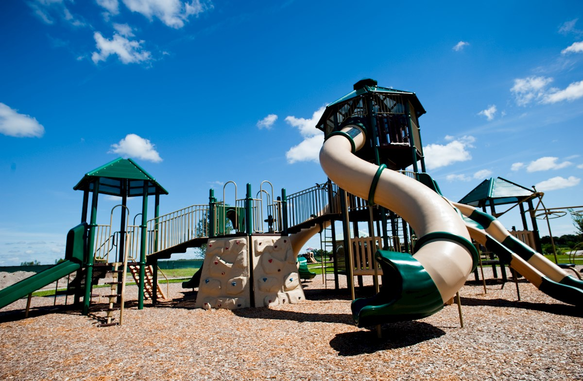 playground with large slide
