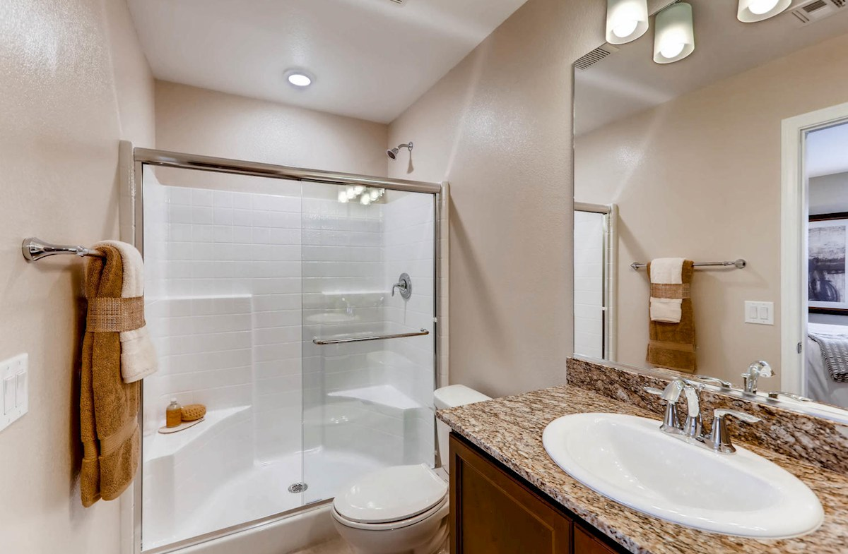 master bath with shower option