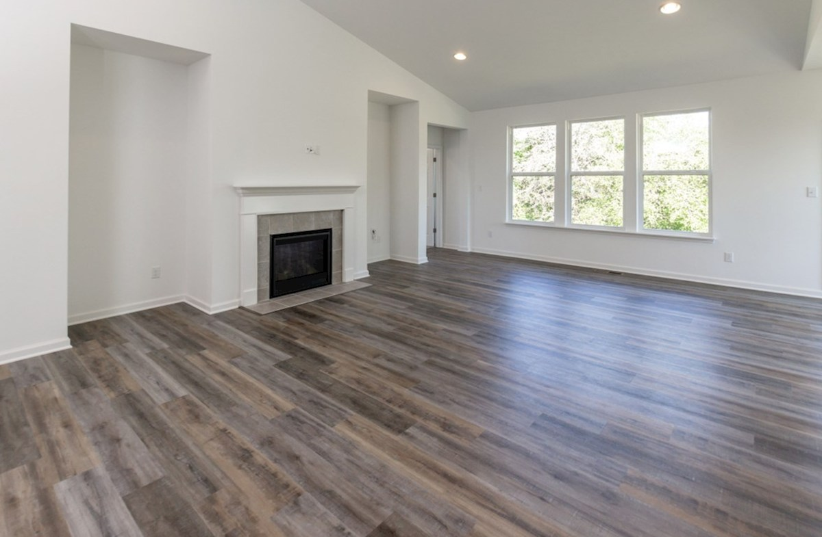 Greenwich quick move-in Cozy fireplace complete this great room