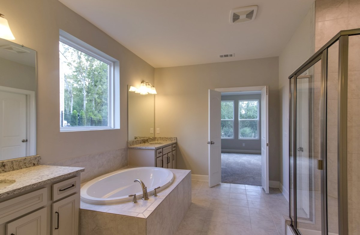 Mckinley quick move-in master bath with picture window