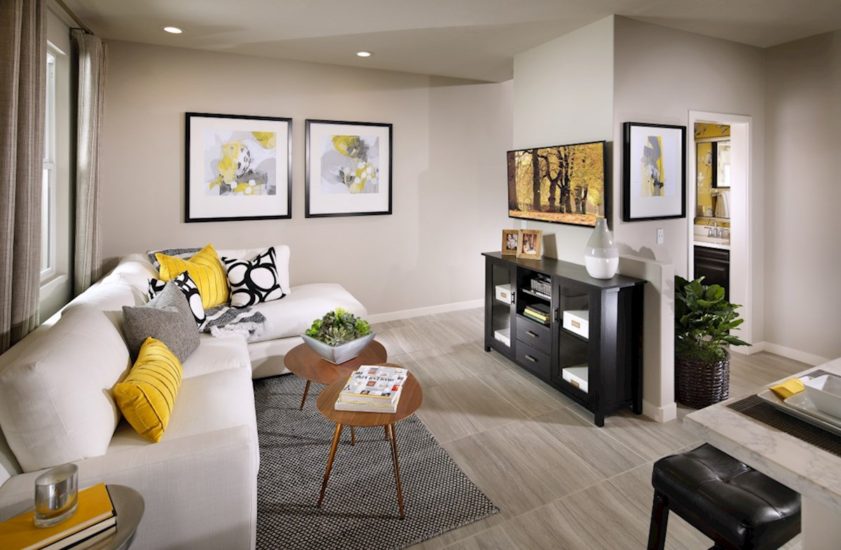 Mission Lane Deer Grass A spacious great room is the perfect space for family bonding
