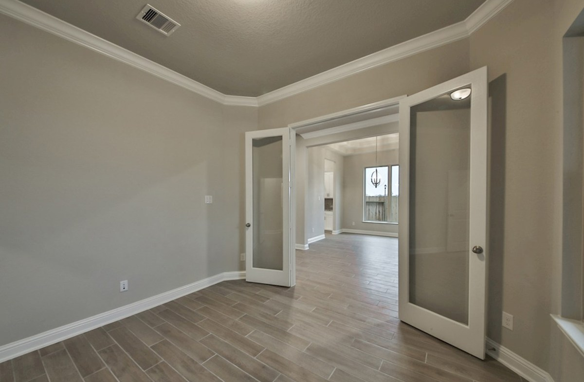 Caldwell quick move-in study with French door entry and tile flooring