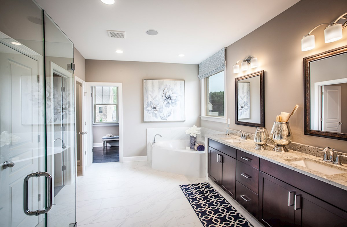 Kensington Amelia II master bath boasts spa-inspired designs