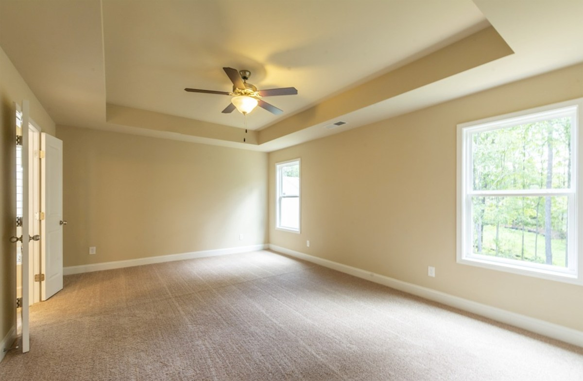 Milford Point Duval Master Bedroom with tray ceilings