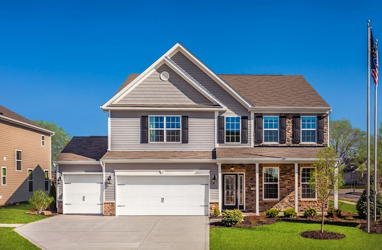 Model home with Traditional Exterior
