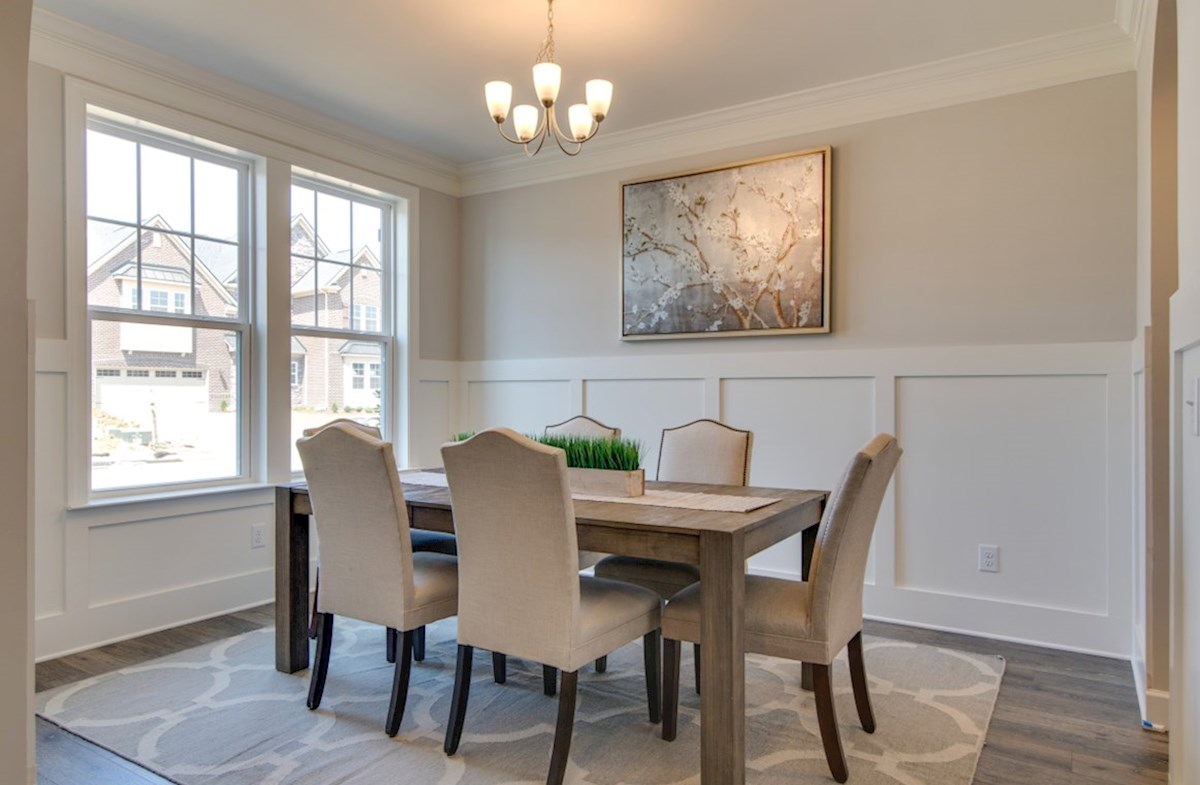 Sheffield Park Dogwood formal dining room with double windows