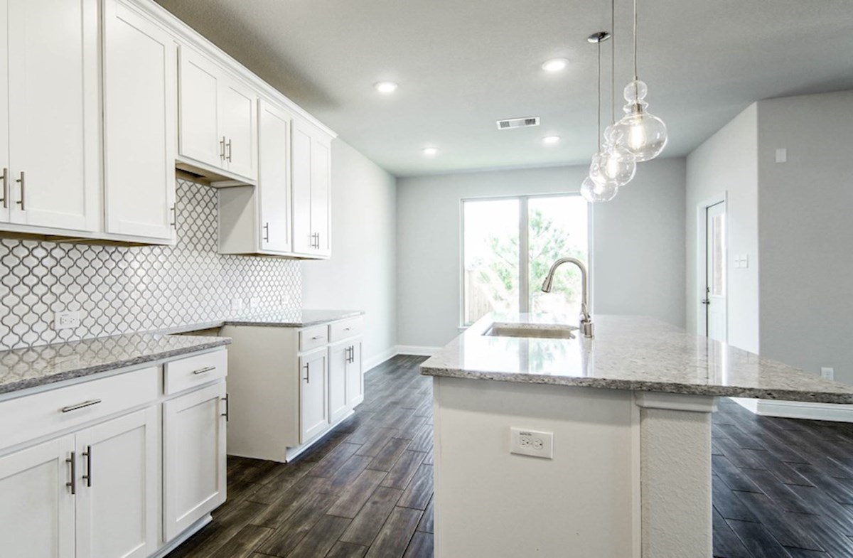 Juniper quick move-in spacious kitchen with spacious cabinets and tile floors