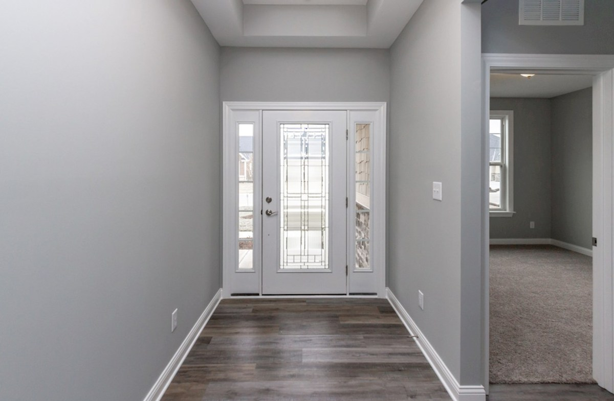 Charleston quick move-in foyer with trey ceiling