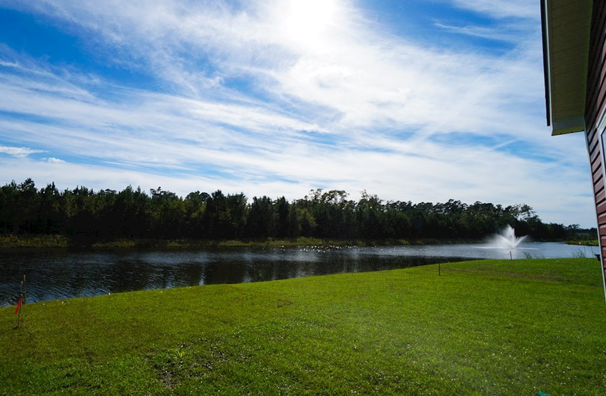 Georgetown quick move-in waterview homesite with a spacious backyard