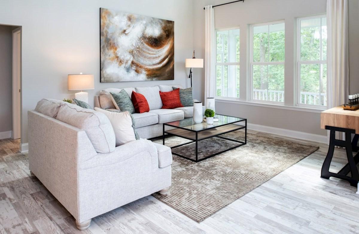 Bishop's Landing Bayard Bayard great room featuring hardwood floors