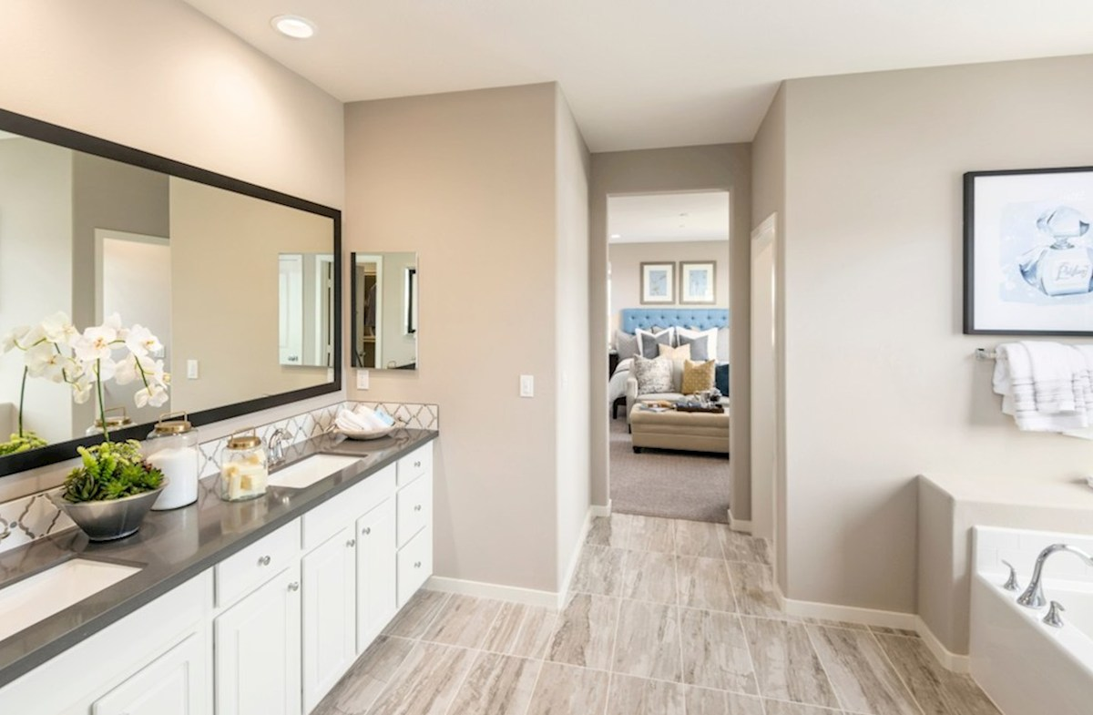 The Glen at Summerly Reserve Separate vanities give you more space and privacy