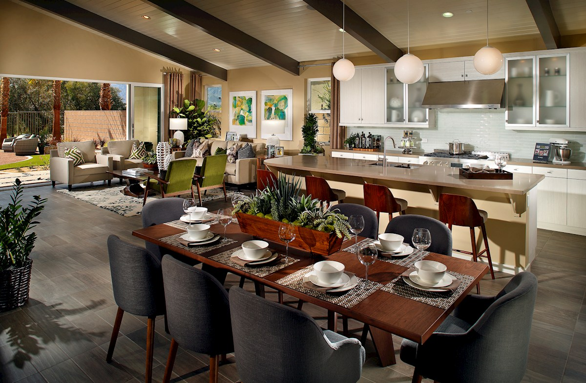 Vermillion at Escena Residence 2 open kitchen and dining room