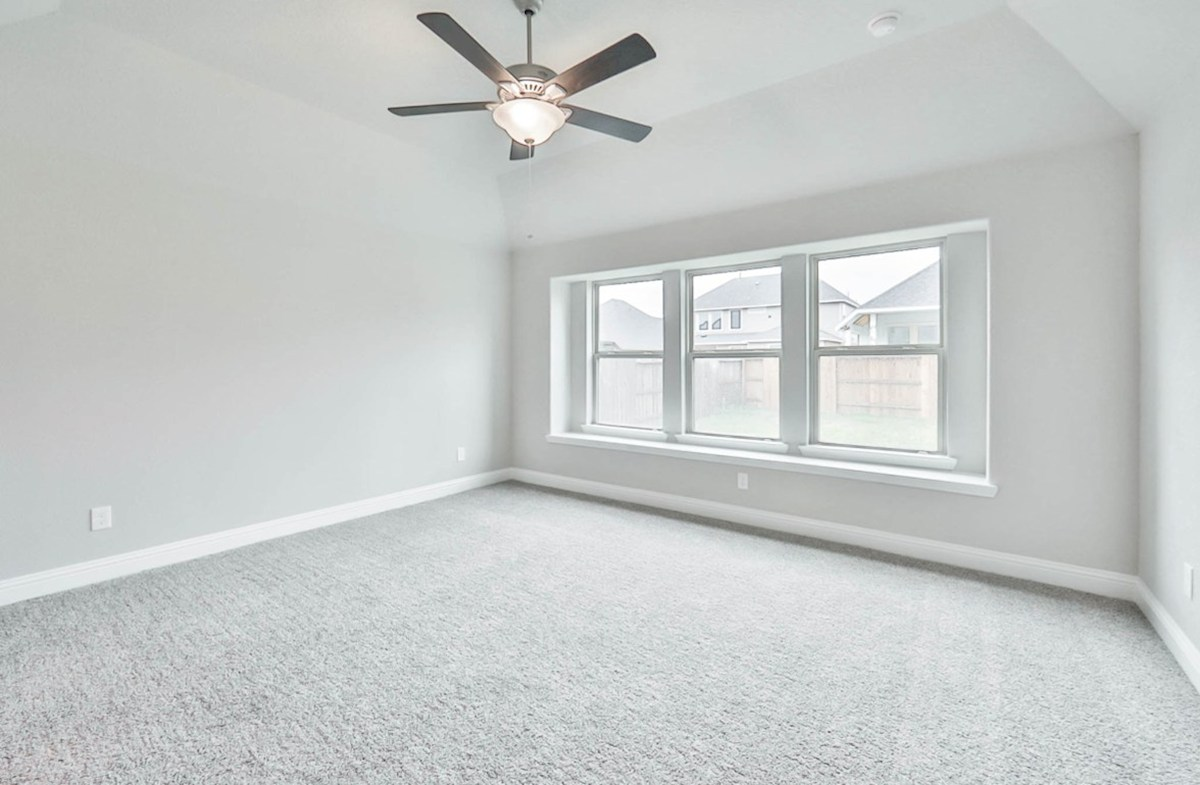 Madison quick move-in master bedroom with window seat and carpet