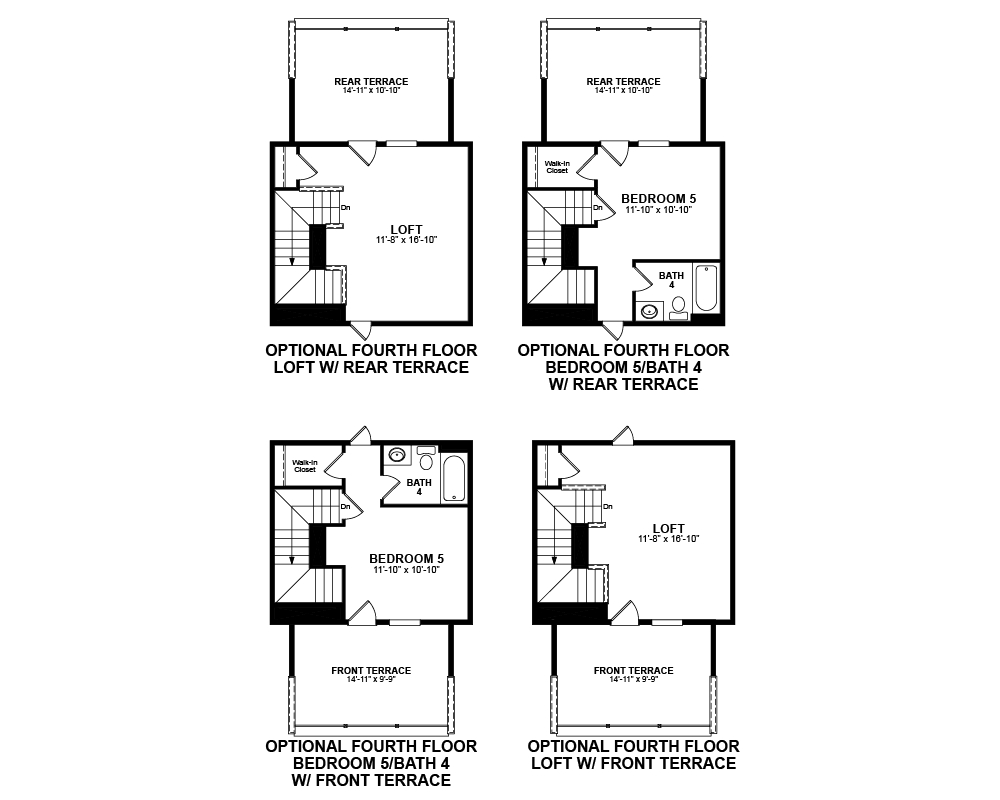 Optional 4th Floor floor plan