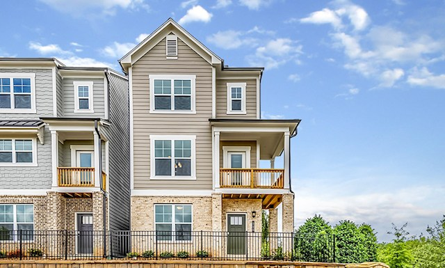 3-story townhome with rear loading garage