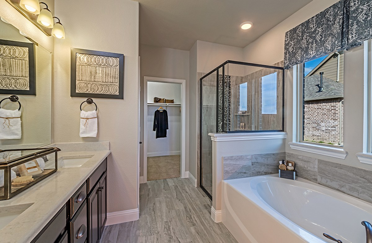 Avalon master bath with separate tub and shower