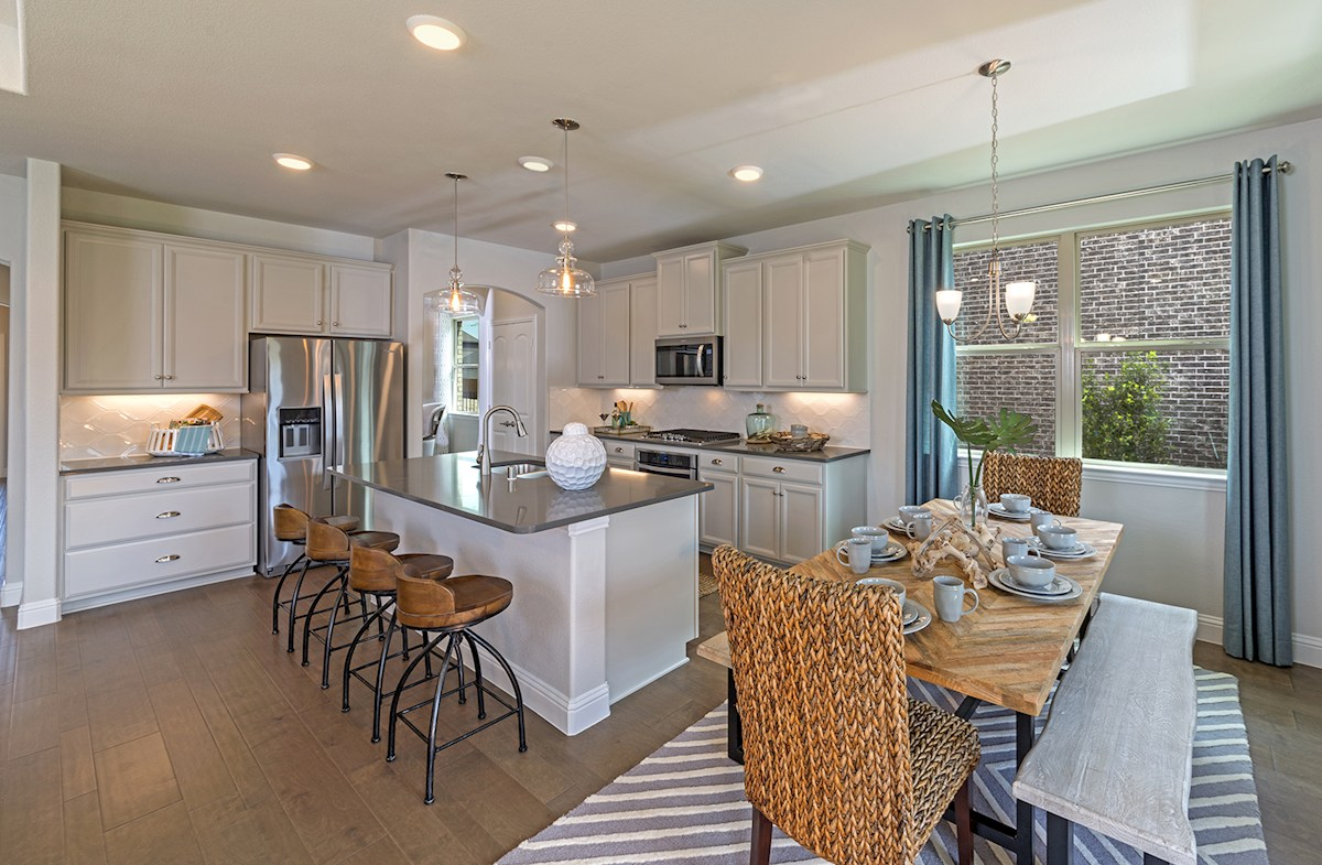Avalon kitchen with breakfast nook