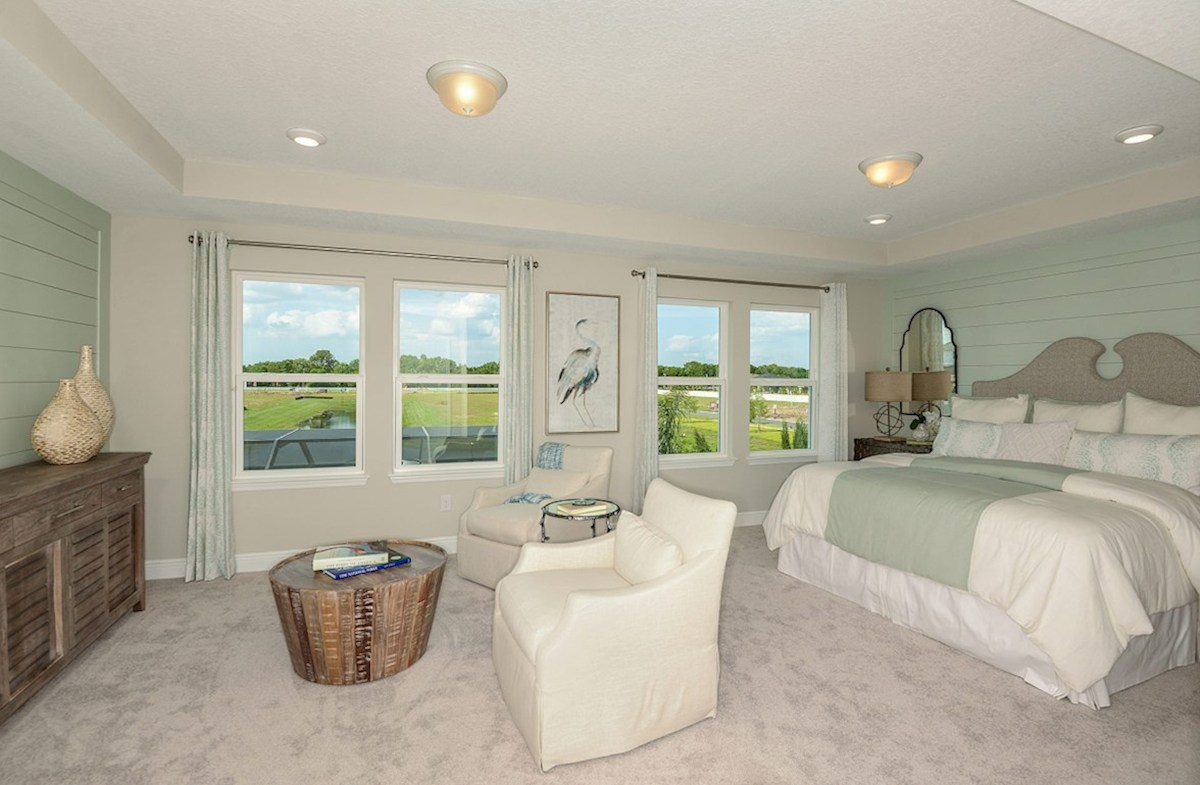 Reserve At Citrus Park Lucia Bay Large Master Bedroom With Sitting Room