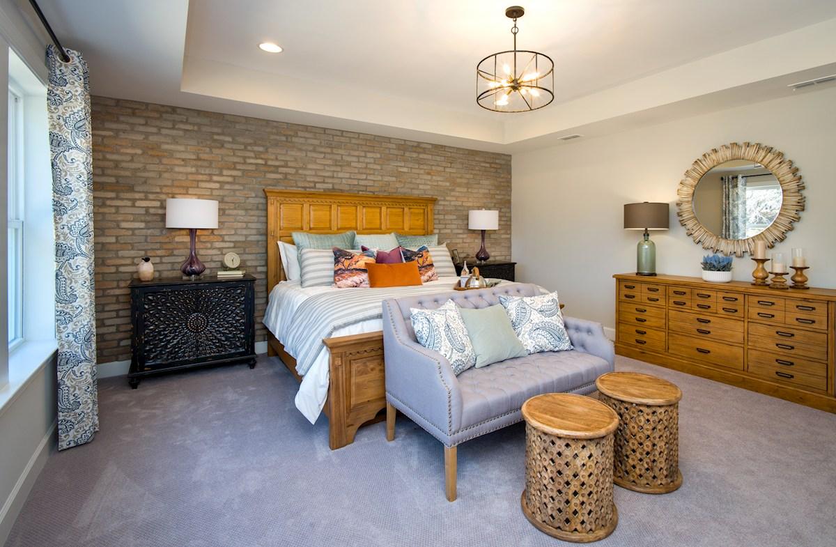 Sage master bedroom