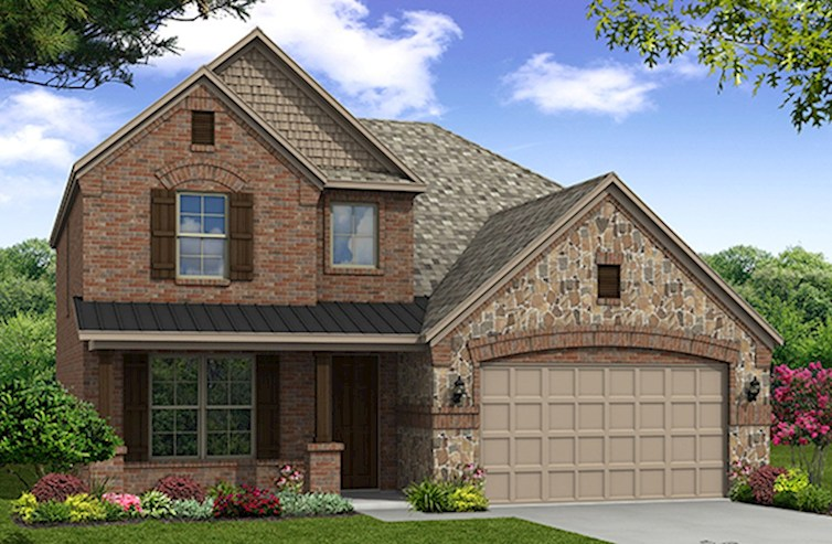 Brookhaven Elevation French Country O
