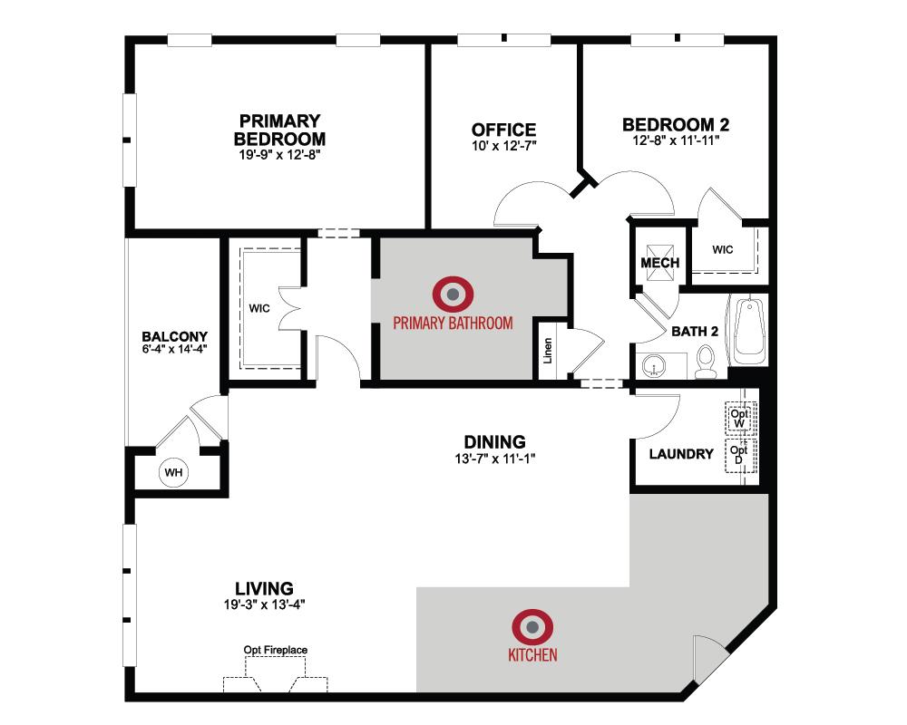 Floorplan of Sherwood