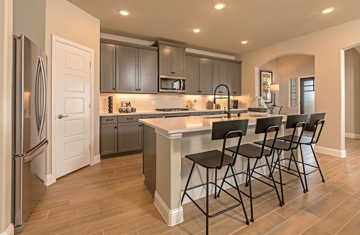The Grove at Craig Ranch Brenham Brenham kitchen with large island