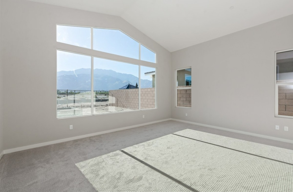Residence 3 quick move-in Master bedroom located in the back of home for best exterior views and natural light