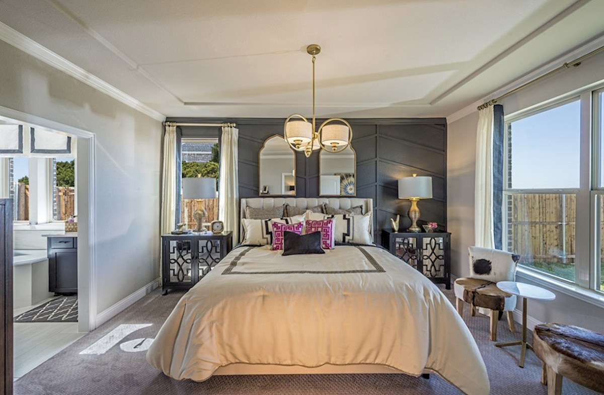 Lakes of Prosper Aberdeen Aberdeen master bedroom with decorative ceilings