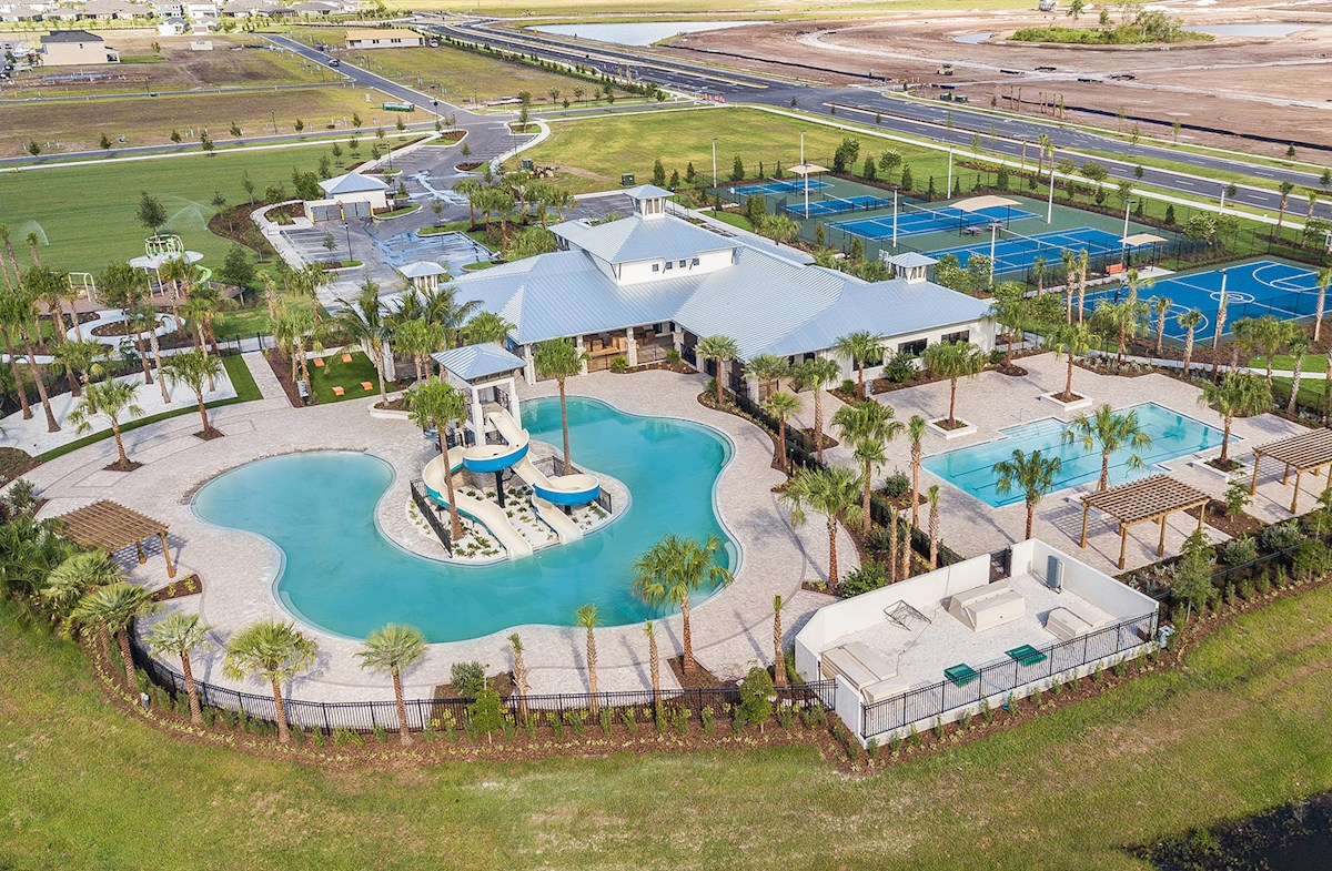 Resort-style pool, tennis, clubhouse