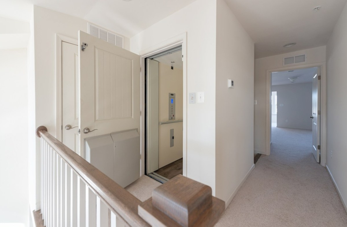 Fenwick quick move-in Fenwick elevator provides easy access to each level