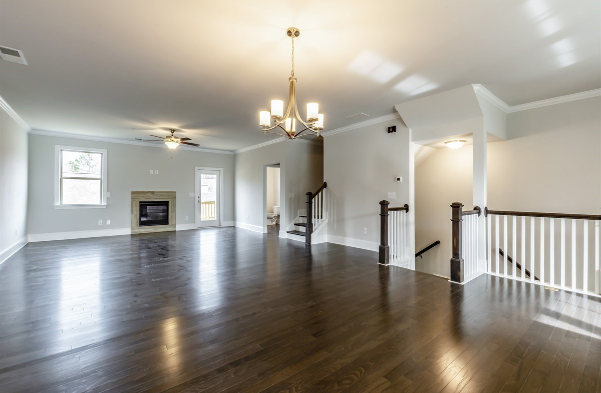 Piedmont quick move-in Family Room with hardwood floors