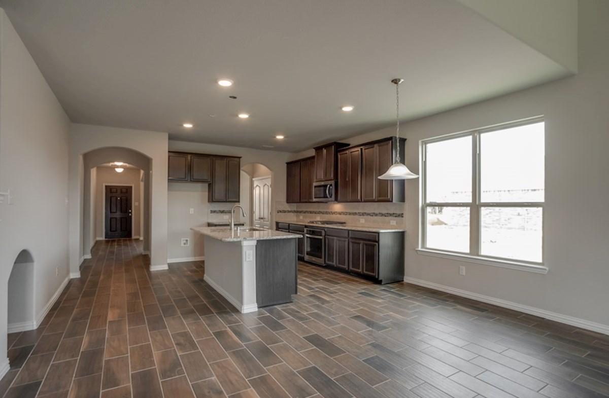 Prescott quick move-in breakast area opens to the kitchen