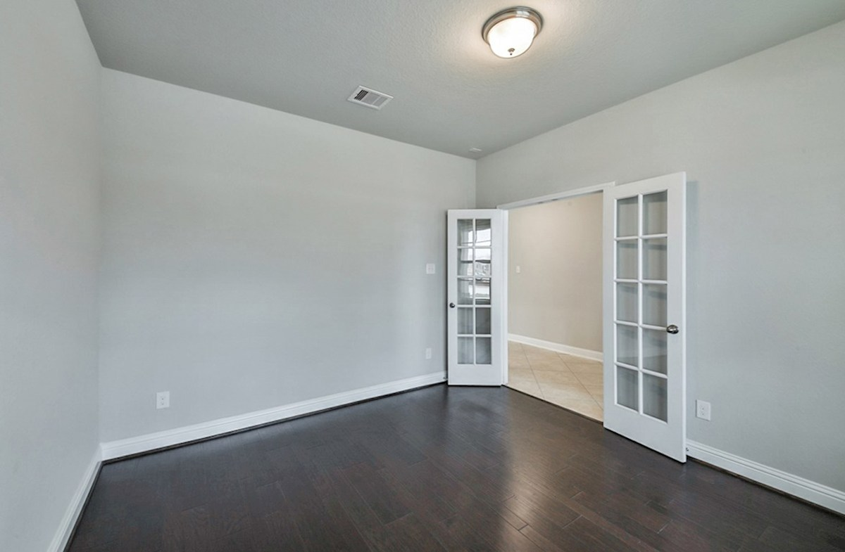 Galveston quick move-in study with wood flooring and French doors